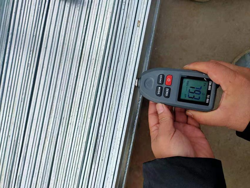 挂镀锌扁钢实测锌层厚度