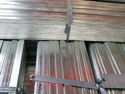 Hot dip galvanized flat steel